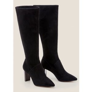 Boden Pointed Toe Stretch Heeled Boots